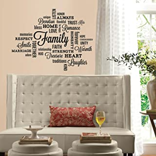 RoomMates Family Quote Peel And Stick Wall Decals,Multicolor