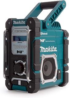 Makita DMR112 Accu-Bouwplaatsradio 7,2V - 18V Met DAB+ En Bluetooth, Zonder Accu en Oplader, Turkoois