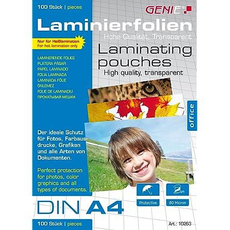 Speedlink Laminierfolie zum Einlaminieren, hochglanz, Format Din A6, 30 St/ück