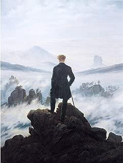 Friedrich Wanderer Above Sea Fog Painting Large XL Wall Art Canvas Print