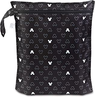 Bumkins Disney Waterproof Wet Bag, Washable, Reusable for Travel, Beach, Pool, Stroller, Diapers, Dirty Gym Clothes, Wet Swimsuits, Toiletries, Electronics, Toys, 12x14 - Mickey Mouse