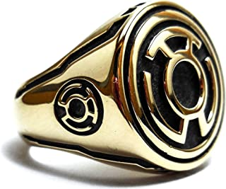 Siamhandmade2014 Yellow Lantern Ring, Sinestro Corps Fear Power Ring Brass Jewelry Size 6-14 (Br-35)