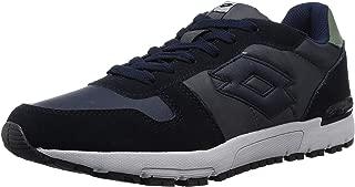 Lotto Men's Runner NVY Dk/Asphalt Track and Field Shoes-8 UK/India (42 EU) (8907181770529)
