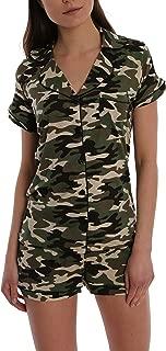 Blis Women's Short Sleeve Button Down Sleep Shirt & Shorts PJ Set - Ladies Lounge & Sleepwear