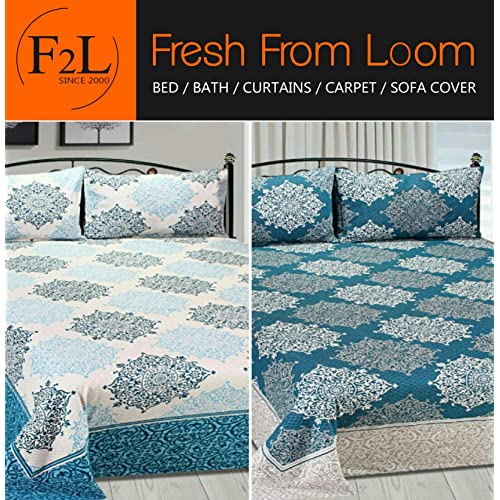 Fresh From Loom Double Bedsheet Reversable King Size 90 X 100