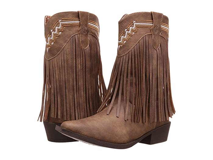 Roper Kids  Fringes (Toddler/Little Kid) (Brown Faux Leather/Vamp Fringe Shaft) Cowboy Boots