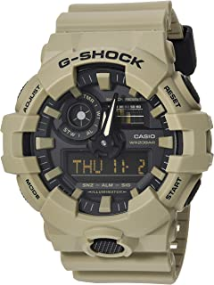 Men's G SHOCK Quartz Watch with Resin Strap, Beige, 25.8 (Model: GA-700UC-5ACR)