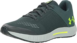 Under Armour mens Charged, Black (002)/Rhino Gray, 9.5