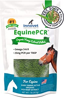 Innovet Pet Products Equine PCR Hemp Pellets for Horses - Natural Equine Hemp Pellets, Relieves Joint Pain & Discomfort | ...