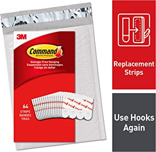 3M Command Small Refill Strips, White, (GP022-64NA)