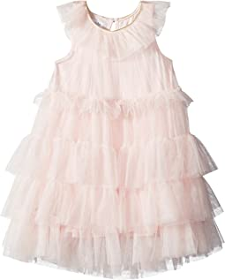 Mud Pie - Mesh Tiered Sleeveless Party Dress (Toddler)