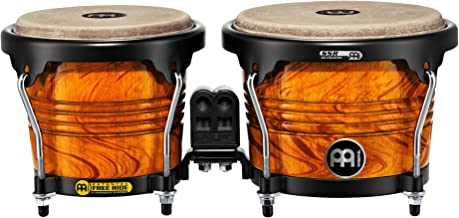 Meinl Percussion FWB190AF Free Ride Series Wood Bongos, Amber Flame Finish