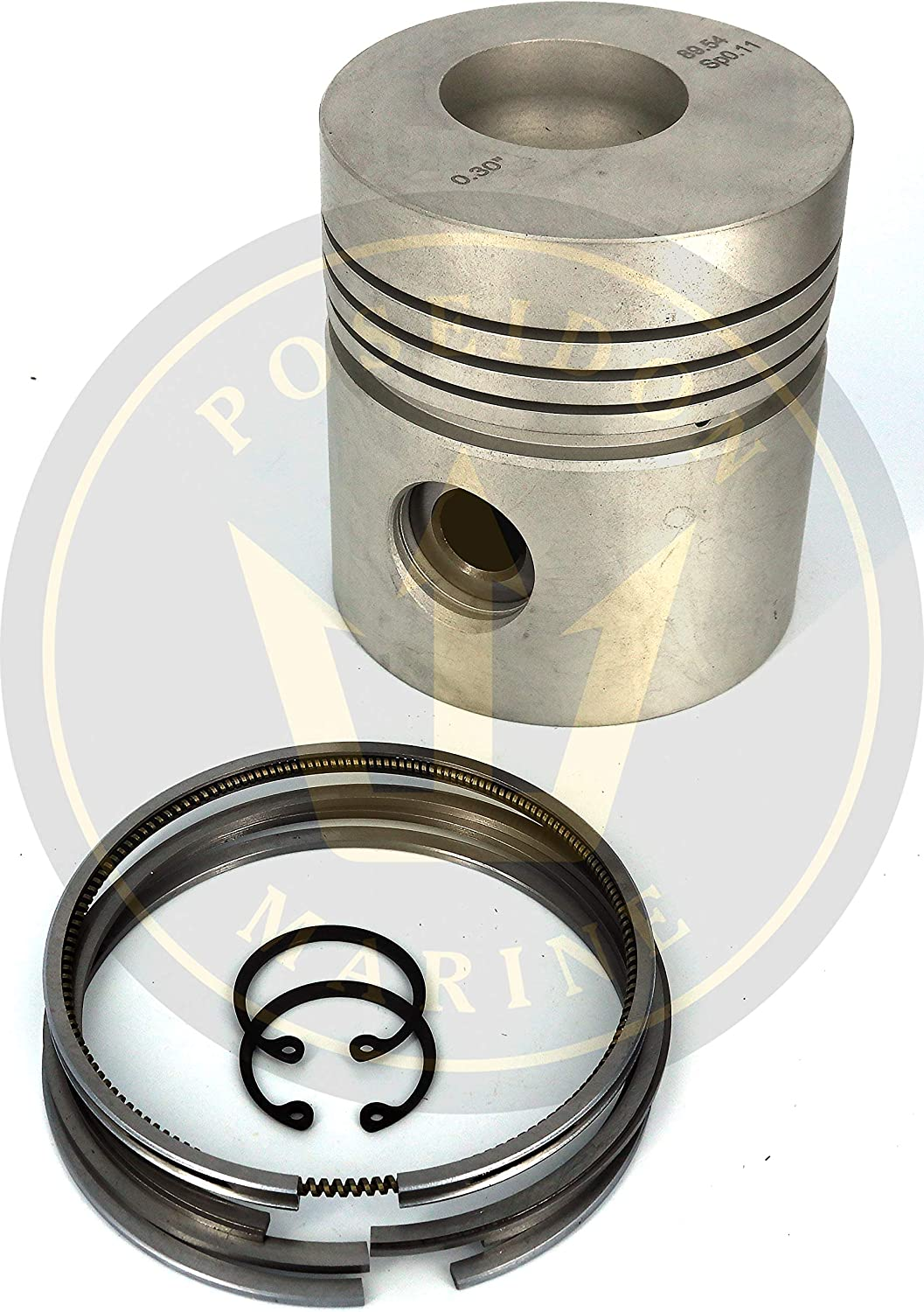 Poseidon Marine Piston kit Oversize 89.54mm 0.030  0.075mm for Volvo Penta MD1 MD2 MD3 RO  875579