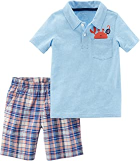 Boys' 2T-5T 2-Pc.Short Sleeve Crab Pocket Tee and Shorts Set