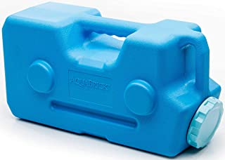 AquaBrick Emergency Water & Food Storage Container, Portable Stackable Storage Containers, Water Storage, BPA Free by SaganLife (1 Container)