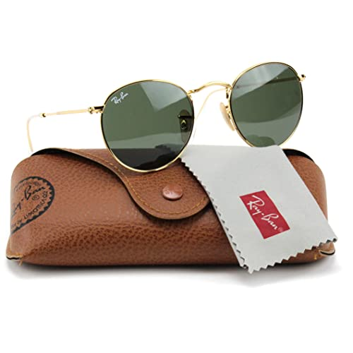 5d3402c22e Ray-Ban RB3447 001 Round Sunglasses Arista Gold / Crystal Green Lens 50mm