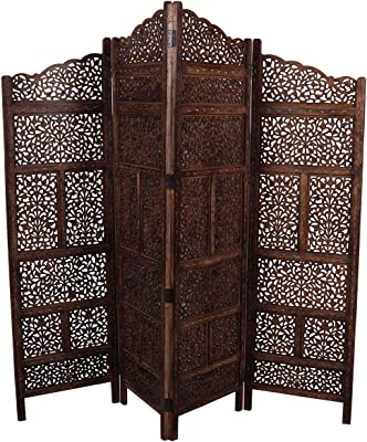 Amazon.com: Deco 79 Benzara Trendy Screen 4 Panel, 80