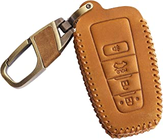VSLIH Genuine Leather Key Fob Cover Case for Toyota
