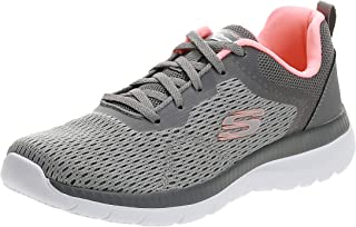 SKECHERS Bountiful, Women's Athletic & Outdoor Shoes, Grey (Grey/Coral), 37 EU