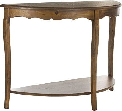 Amazon.com: Table Made of 100% Solid Wood in Mocha Color and ...