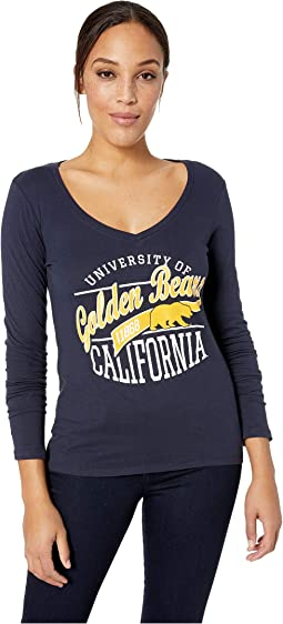 Cal Bears University V-Neck Long Sleeve Tee
