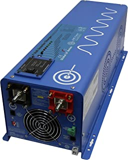 AIMS Power PICOGLF60W48V120V Pure Sine Inverter Charger, 6000W Inverter 110 Vac Single Phase, 18000W Surge for 20 Seconds -3x Surge Capability, Battery Priority Selector, Terminal Block