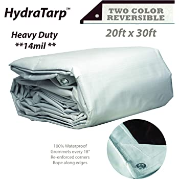 31824 18x24 Multi-Purpose White Heavy Duty DRY TOP Poly Tarp 18x24