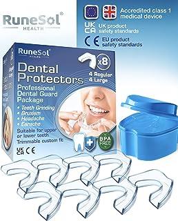 Runesol Ferula dental para bruxismo (8)| 100% libre de BPA | Tecnología de fácil moldeado | Paquete de seis protectores de...