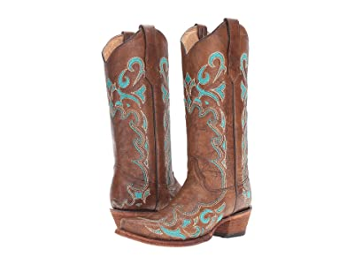Corral Boots L5193 (Brown/Turquosie) Women