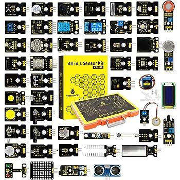 KEYESTUDIO Actualizado 48-en-1 Kit de Módulos de Sensores con Tutorial for Arduino UNO, Mega 2560 Nano Sensores Kit Raspberry Sensores: Amazon.es: Electrónica