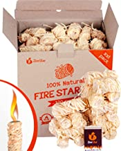 Zorestar Natural Fire Starters 120 pc - Wood Firelighters for Indoor and Outdoor Use - Waterproof Firestarter for kindling