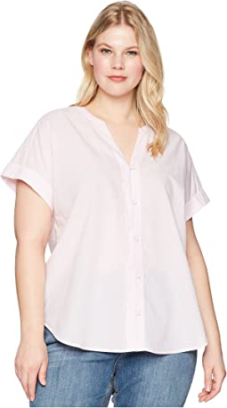NYDJ Plus Size - Plus Size Short Sleeve Boyfriend Shirt