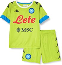 SSC Napoli keeperset Away 2020/21 unisex kinderen, limoengroen/lichtblauw, 10 jaar