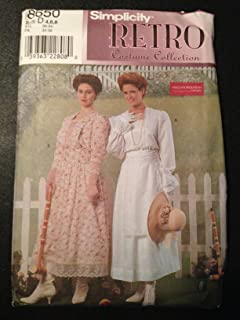 Simplicity 8650 Sewing Pattern, Retro Costume Collection, Misses' Dress, Size D (4,6,8)