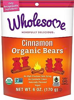 Wholesome Organic Cinnamon Bears, Gluten Free, Vegan, 6 ct. 6oz.