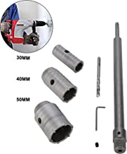 YaeTek 30 40 50mm SDS Plus Shank Carbide Tip Hole Saw Drill Bit + Shaft Cutter Wall Drill Brick Stone Concrete Cement with Wrench