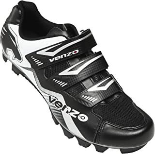 Venzo Mountain Men's Bike Bicycle Cycling Shoes - Compatible for Shimano SPD Cleats - Good for Spin Cycle, Off Road and MTB