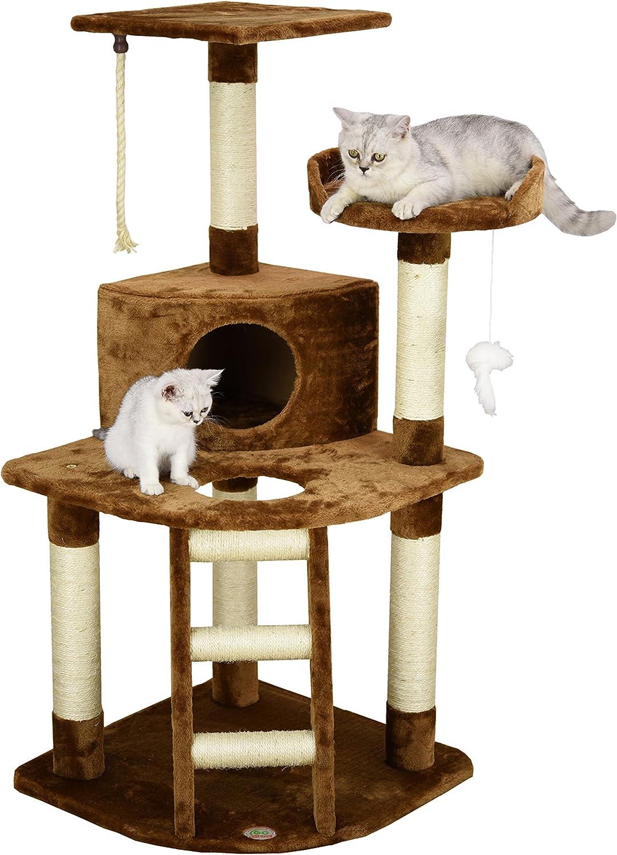 Go Pet Club Cat Tree Condo House, 32Inch W by 25Inch L by 471 2Inch H