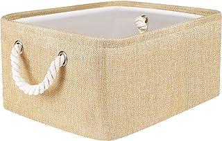 Gladpaws Storage Basket Bins,Small Fabric Basket Organizer with Handles for Gift Empty,Collapsible Rectangular Storage Bin...