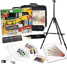 Artina Michelangelo zestaw do malowania XXL, 122 części, sztaluga, zestaw do malowania, akryl, zestaw do rysowania, kredk...