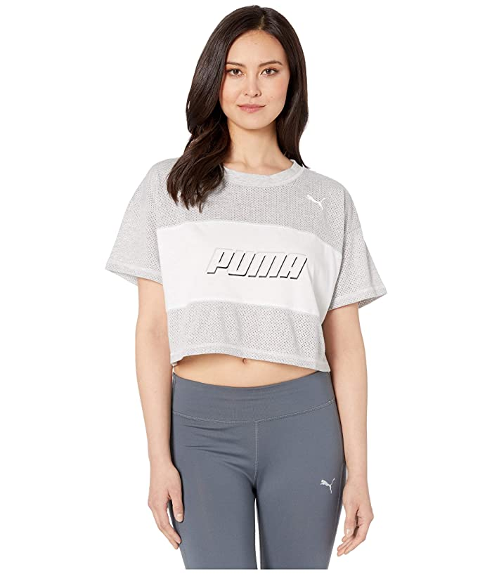 PUMA Modern Sports Cropped Tee (Light Gray Heather) Women