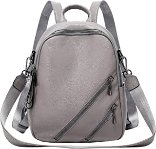 ALTOSY Soft Leather Backpack Purse For Women Convertible Casual Shoulder Bag Purse