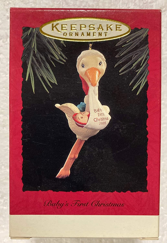 Hallmark QX5557 Baby's Inexpensive 1st Christmas Outlet ☆ Free Shipping Ornamen Keepsake 1995 Stork