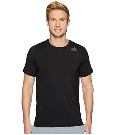 adidas Alphaskin Sport Fitted Short Sleeve Tee (Black) Men