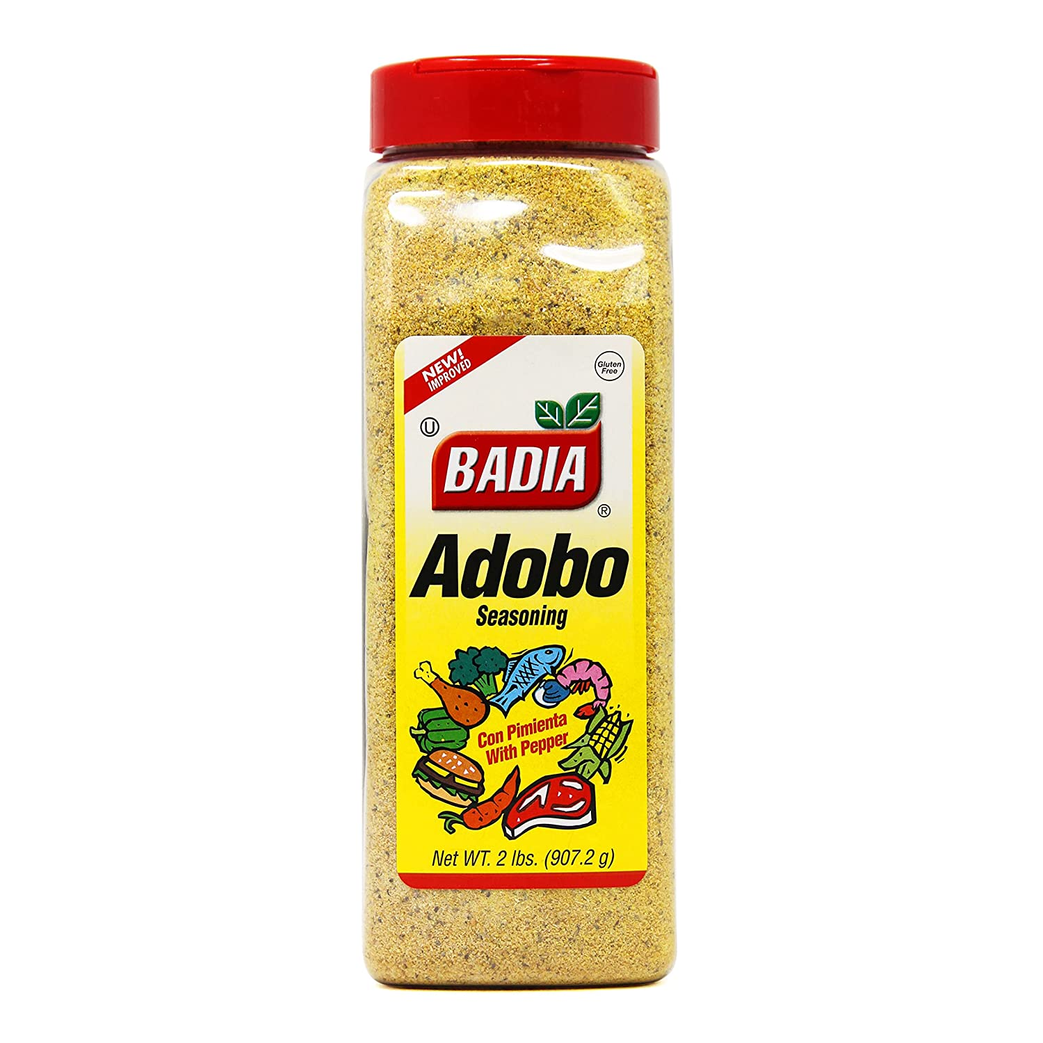 Badia Adobo with Pepper New product! New type 2 Easy-to-use Pack Pound of 6