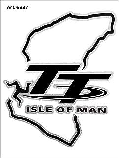 4R Quattroerre.it 6337 Super geformter Aufkleber Schaltung TT Isle of Man, 10 x 12 cm
