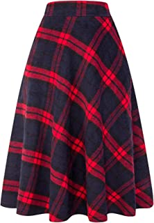 women's plus size plaid skirt