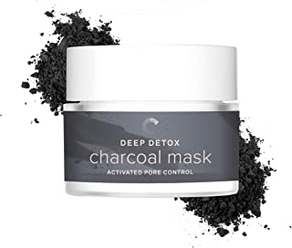 Cosmedica Skincare Deep Detox Activated Charcoal Clay Mask - New! Face mask to target enlarged pores, reduce blackheads, oily skin and uneven skin tone and dark spots from acne or scarring