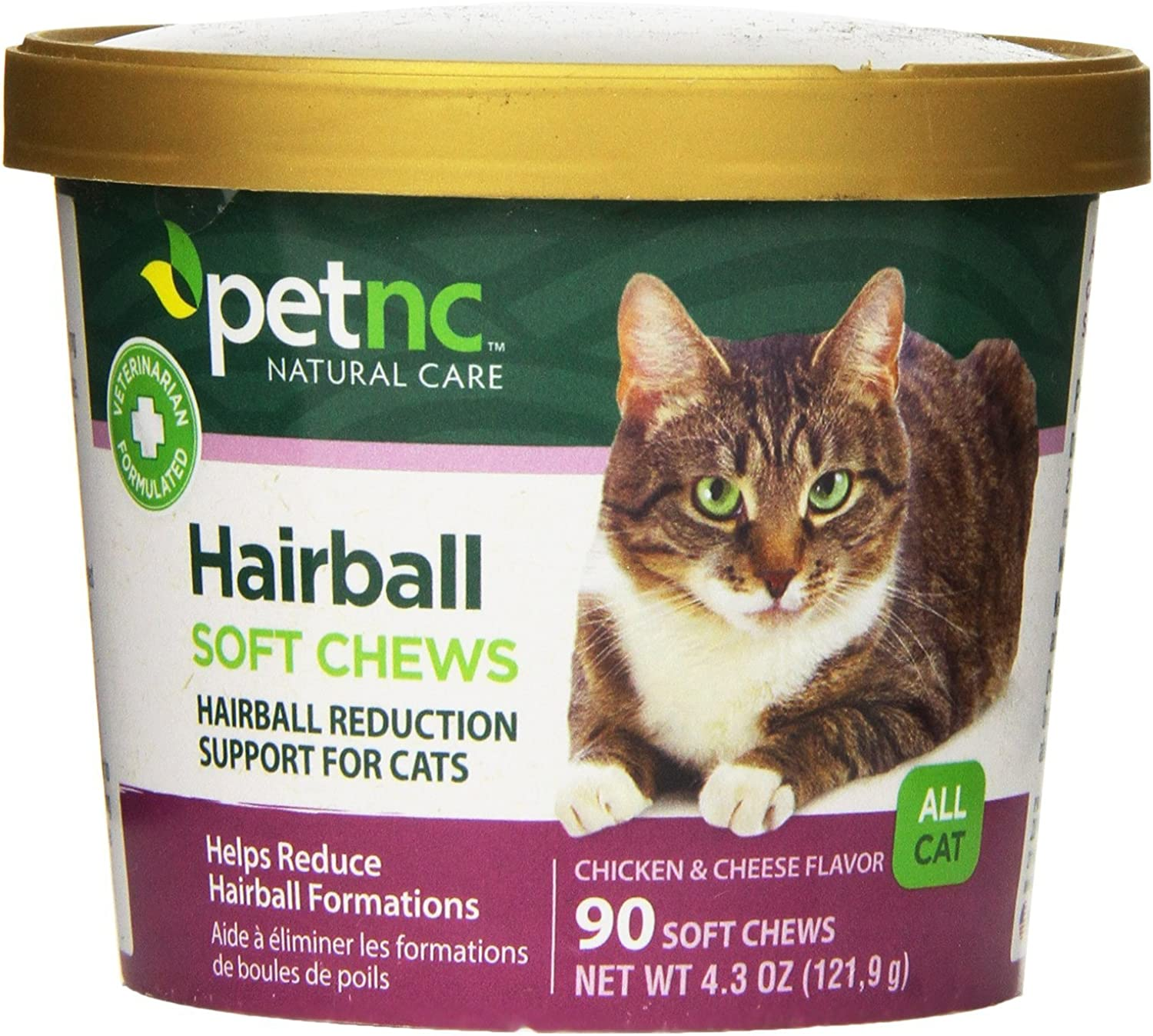 PetNC Natural Care Hairball Soft Chews for Cats, 90 Count (Pack of 2)