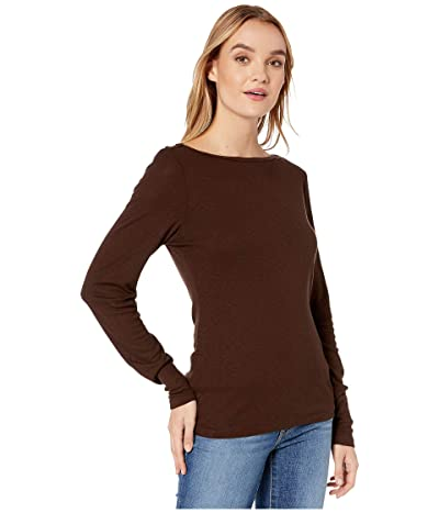 Michael Stars Winona 1X1 Slub Envelope Neck Tee (Java) Women